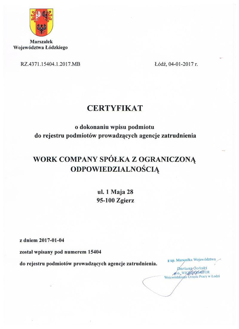 CertyfikatKRAZ